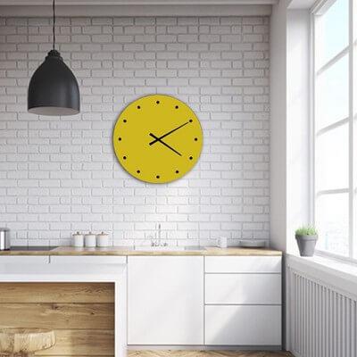 horloge murale design vert