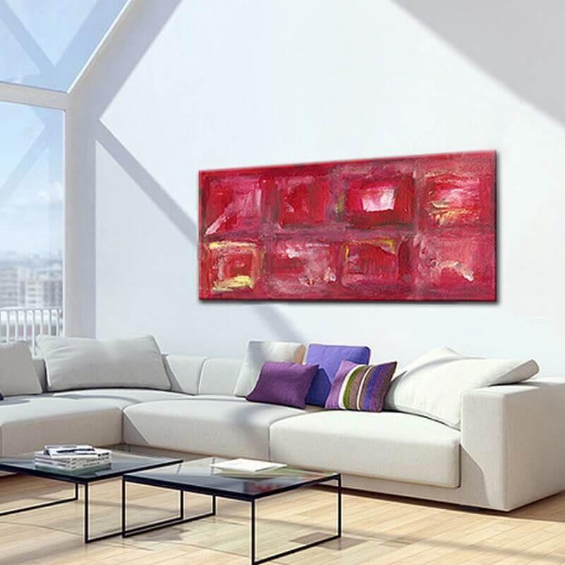 quadres moderns abstractes per decorar el menjador -seqüències d'un instant
