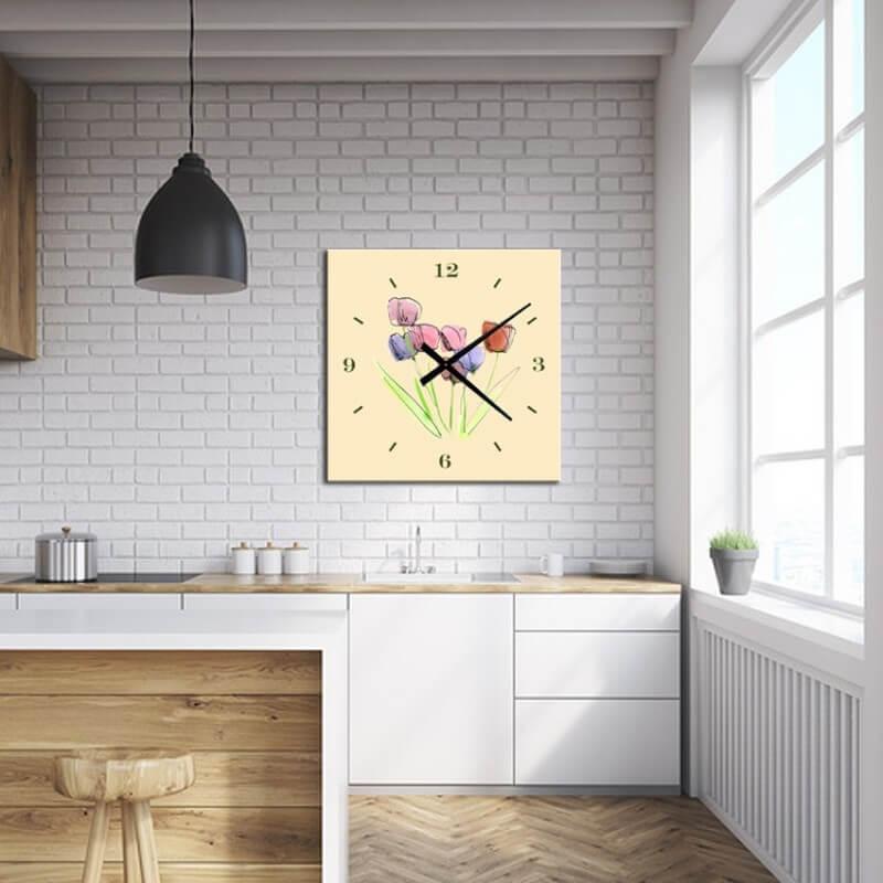 horloge murale dessin FTB