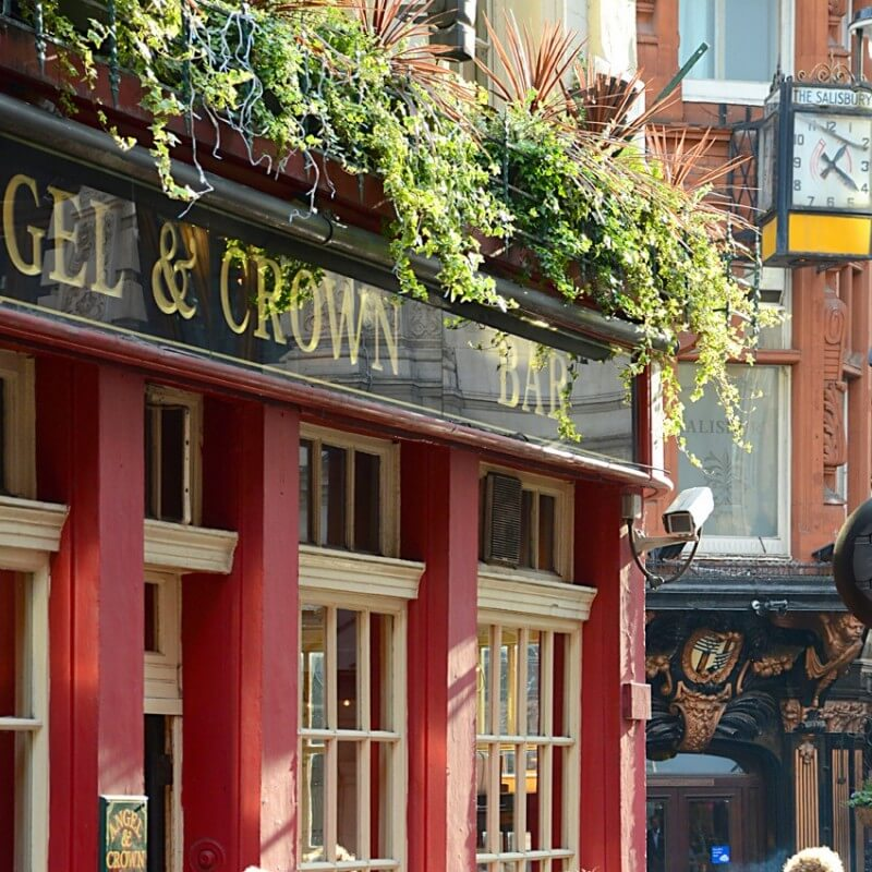 cuadros modernos fotografía London Pub 6
