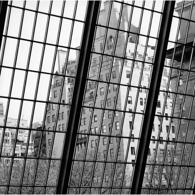 Urban painting photography window in a New York museum
