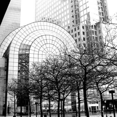 Tableau photographie urbain entrée sud twin towers à New York