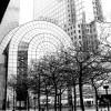 Tableau photographie urbain entrée sud twin towers à New York