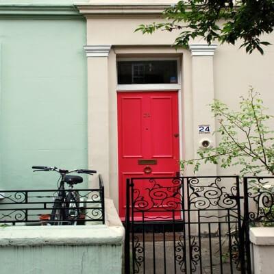 Tableau photographie urbain porte à Kensington