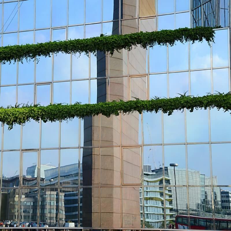 Quadre fotografia urbana ciutat reflexe