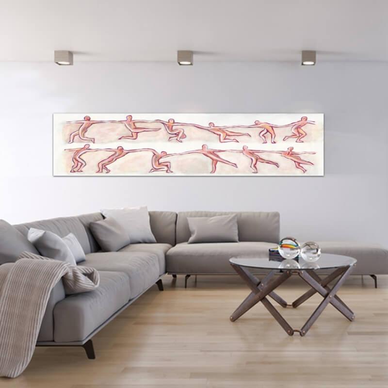 quadres moderns figuratius per decorar el menjador -dansaires