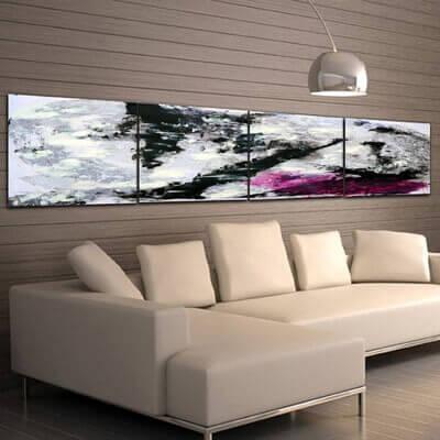cuadros modernos abstractos-encuentro fugaz