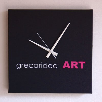 wall clock with your logo. square format