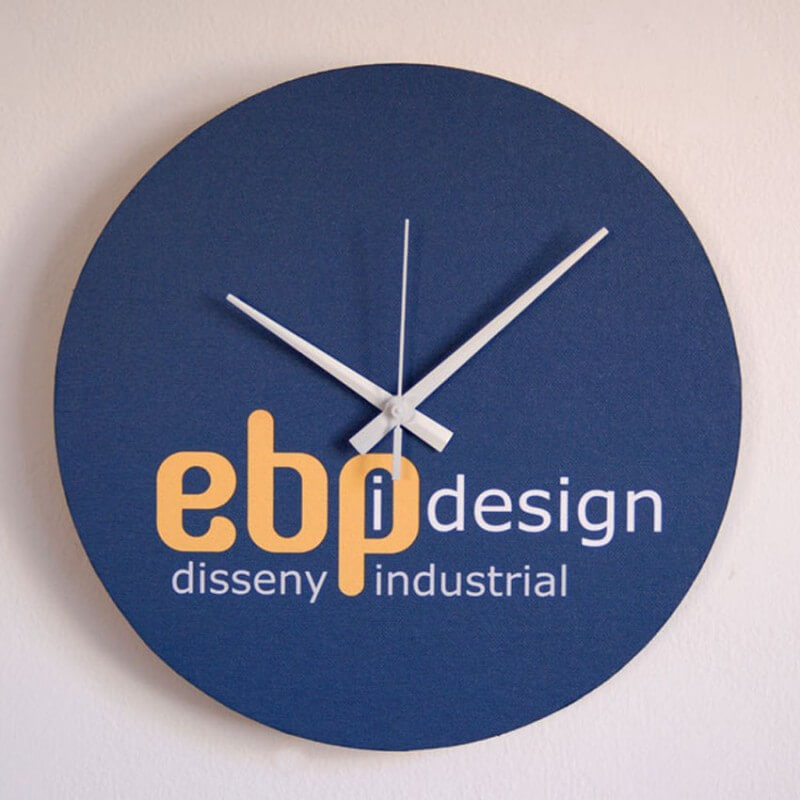wall clock with your logo. circular format