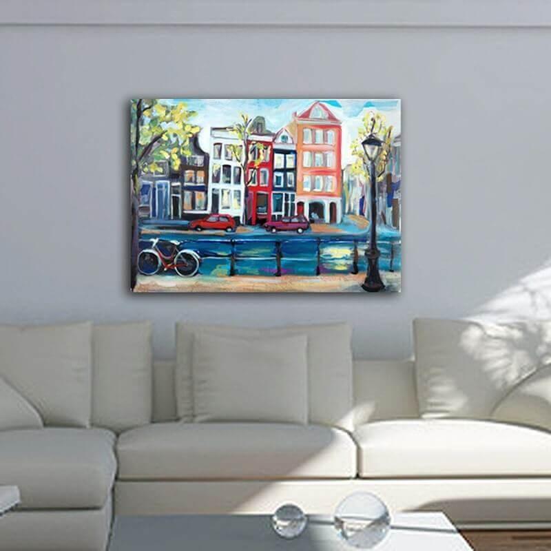 cuadros modernos urbanos de ciudades-casas en Amsterdam