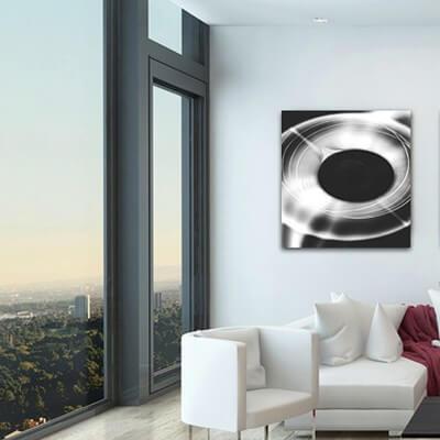 Quadre fotografia experimental esfera blanca
