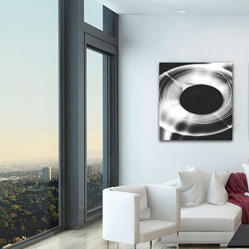 Tableau photographie expérimentale cadran blanc