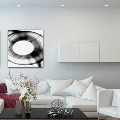 Tableau photographie expérimentale cadran noir