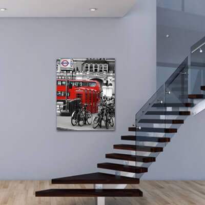 Urban painting photography London Red Bus 2