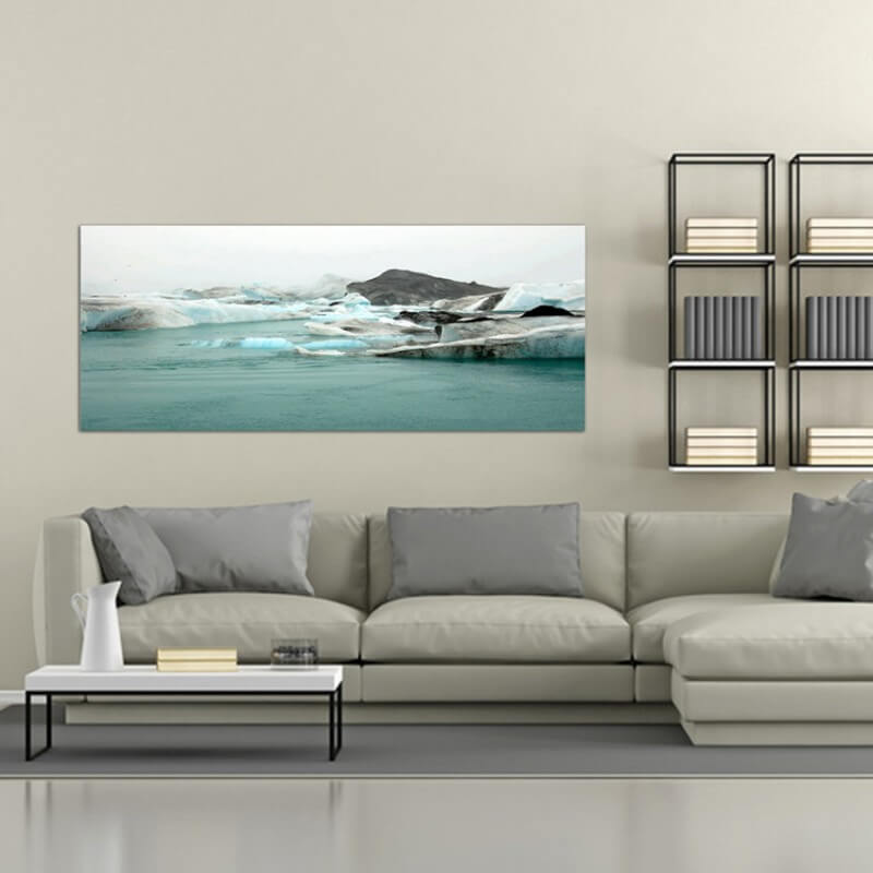 Landscapes painting photography glacier in Iceland
