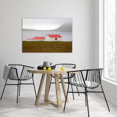 cuadros modernos fotografía refugio - Islandia