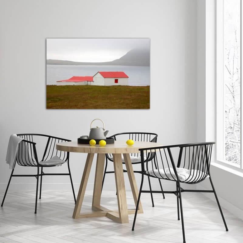 Tableau photographie paisajes refuge - Islande