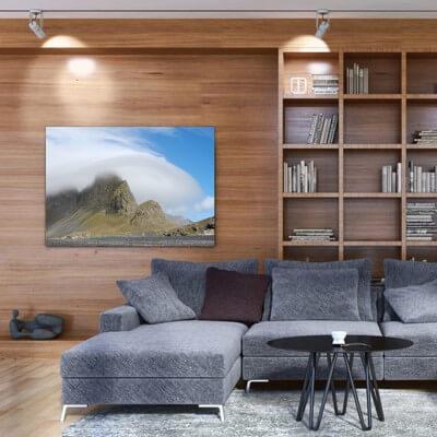 Tableau photographie paisajes coup de vent - Islande