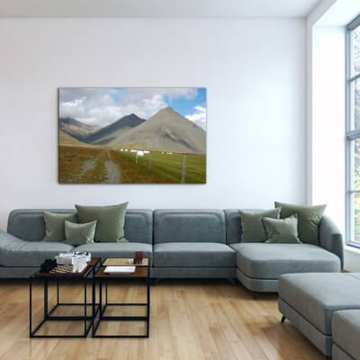 Landscapes painting photography covering sky - Iceland
