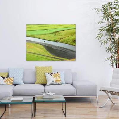 cuadros modernos fotografía prados verdes - Islandia