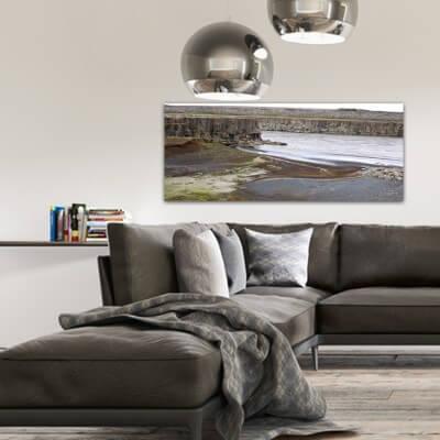 cuadros modernos fotografía rio en calma - Islandia