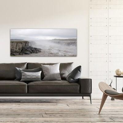 Tableau photographie paisajes eaux troubles - Islande