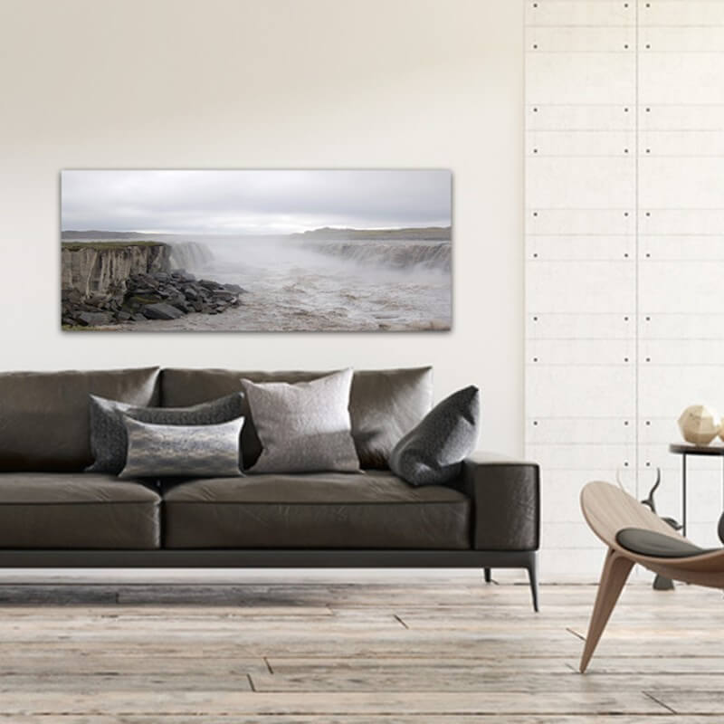 Landscapes painting photography raging river - Iceland