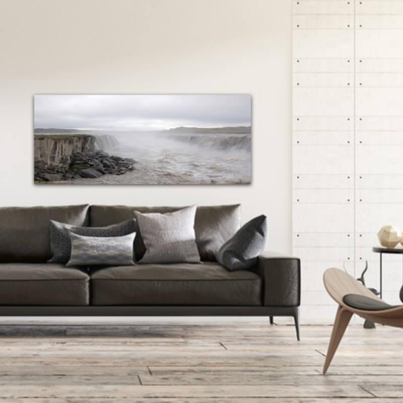 cuadros modernos fotografía rio revuelto - Islandia