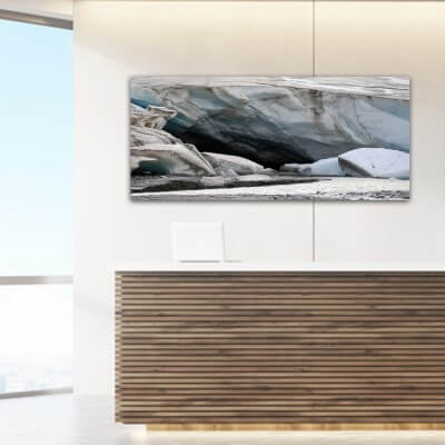 cuadros modernos fotografía glaciar - Canadá