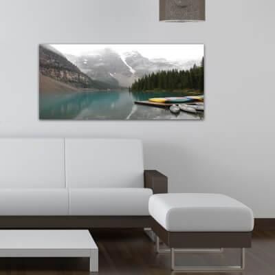 cuadros modernos fotografía lago y canoas - Canadá