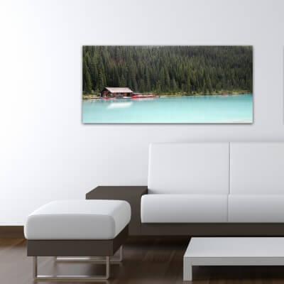 Tableau photographie paisajes cabine sur le lac - Canada
