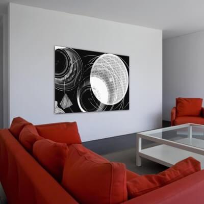 Quadre fotografia experimental òrbita blanca