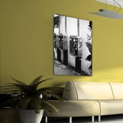 cuadros modernos fotografía cabinas telefónicas - Nueva York