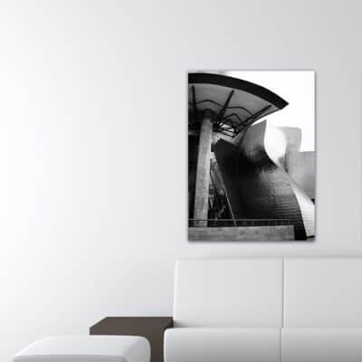 Quadre fotografia urbana ciutat devant la porta, Guggenheim