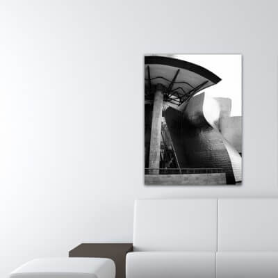 Tableau photographie urbain devant la porte, Guggenheim
