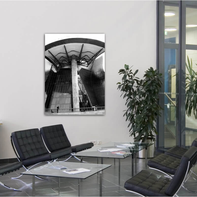 cuadro fotografía urbana ciudades bajo la puerta, Guggenheim