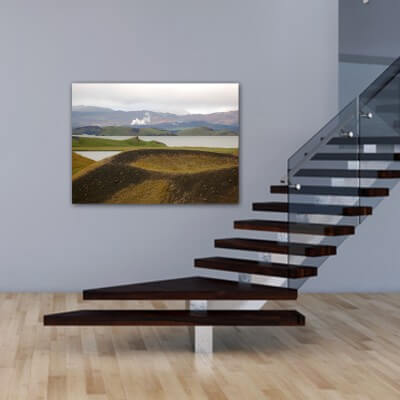 Landscapes painting photography volcano in Iceland