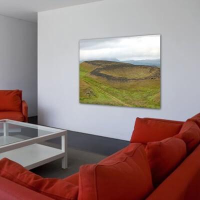 cuadro fotografía paisajes zona volcánica - Islandia