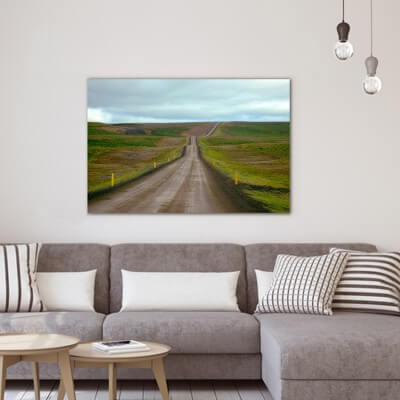 Landscapes painting photography icelandic road