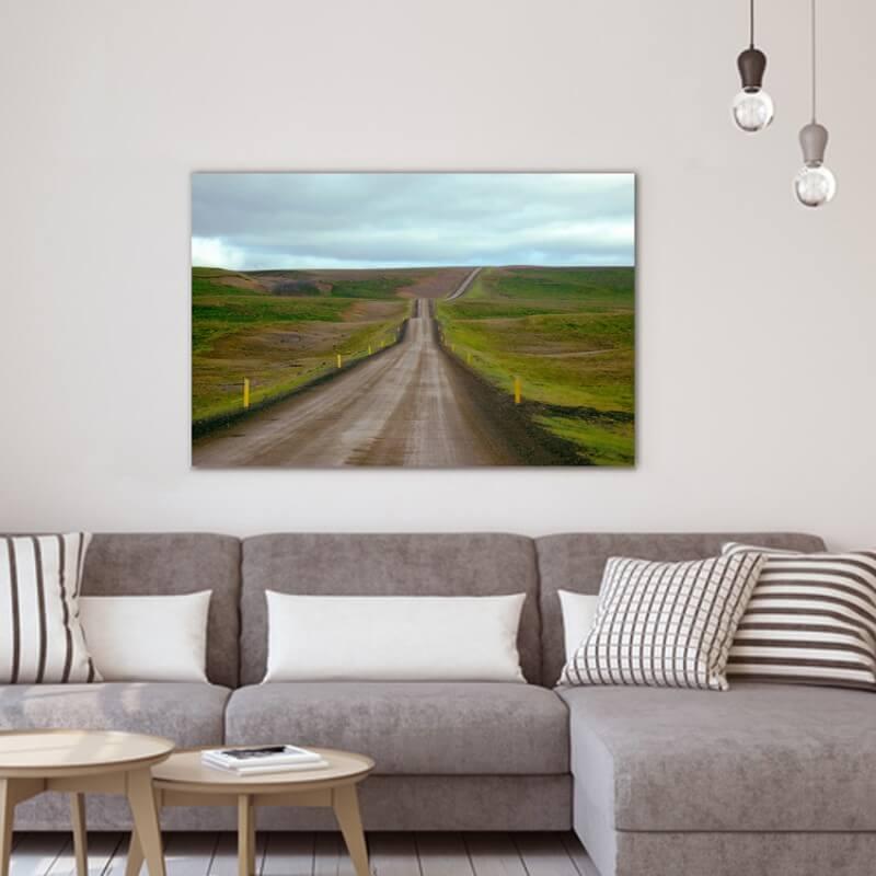 Quadre fotografia paisatge carretera islandesa