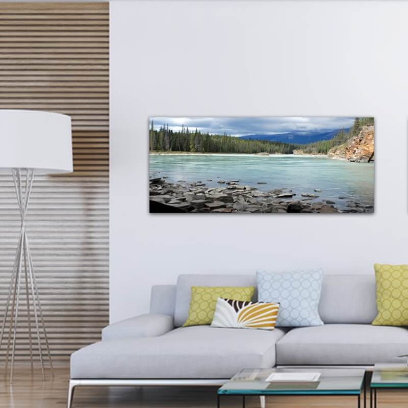 Quadre fotografia paisatge pedres al riu Frasser - Canadà