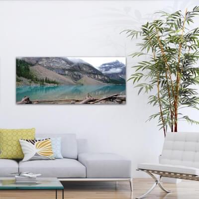 Tableau photographie paisajes lac et glacier - Canada