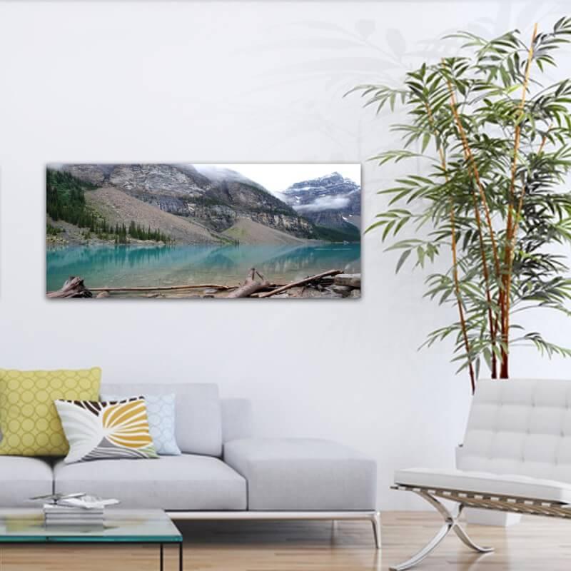 Quadre fotografia paisatge llac i glacera - Canadà