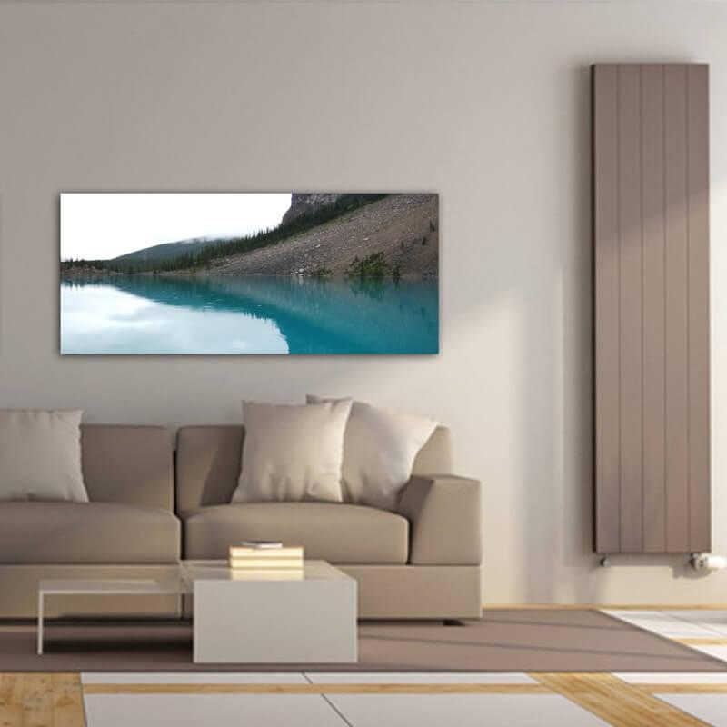 cuadros modernos fotografía reflejo en el lago Moraine - Canadá