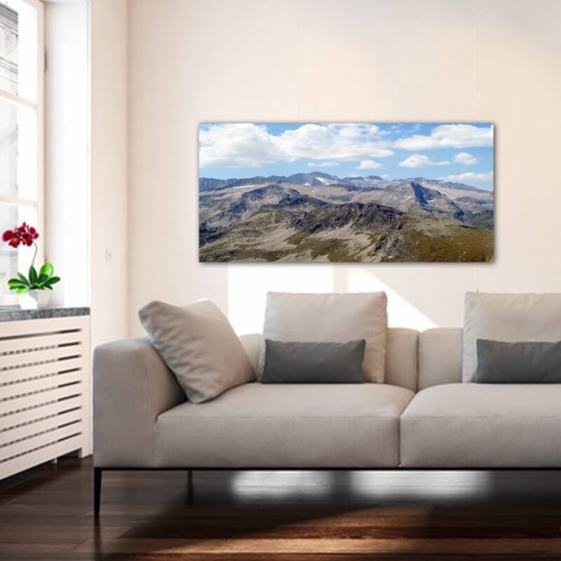 Landscapes painting photography view area Aneto