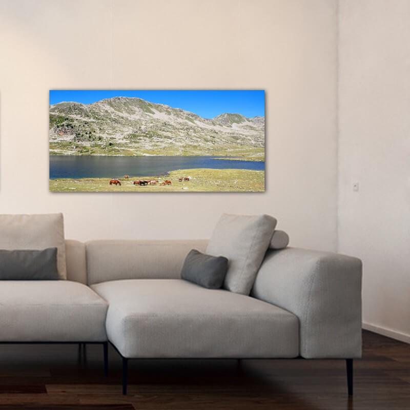 Tableau photographie paisajes lac Veciberri 2