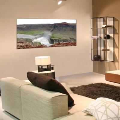 Tableau photographie paisajes cours de la rivière - Islande