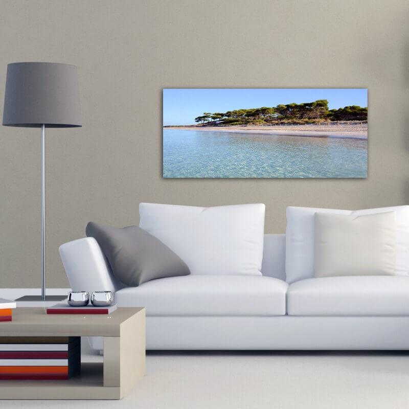 cuadros modernos fotografía playa Es Carbó 1