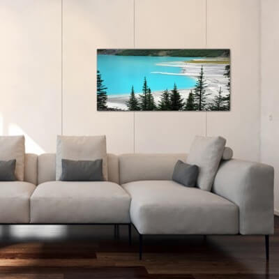 Landscapes painting photography Louise lake - Canada