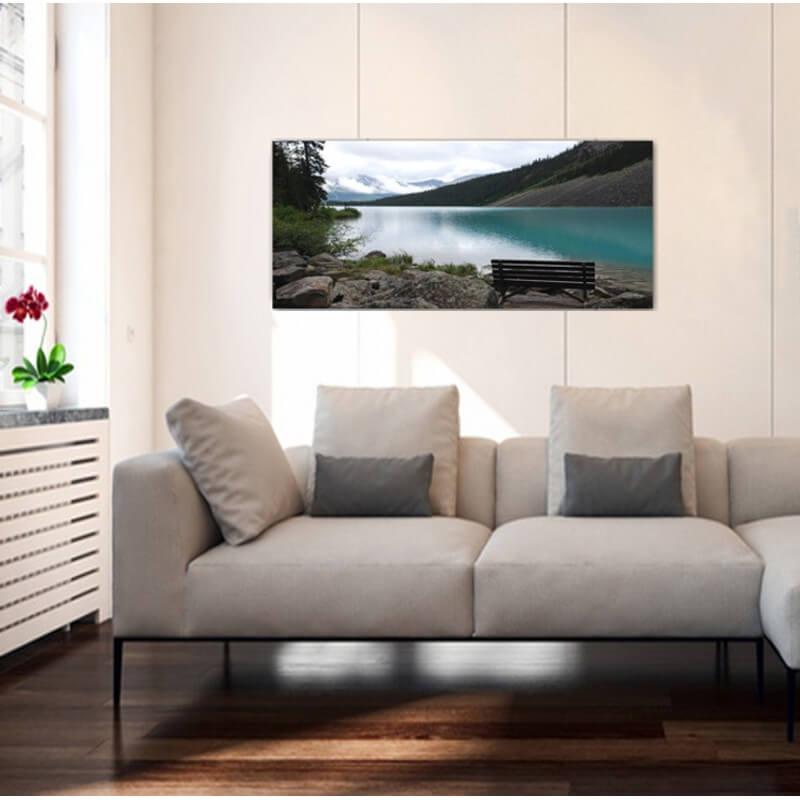 cuadro fotografía paisajes vistas al lago Moraine -Canadá